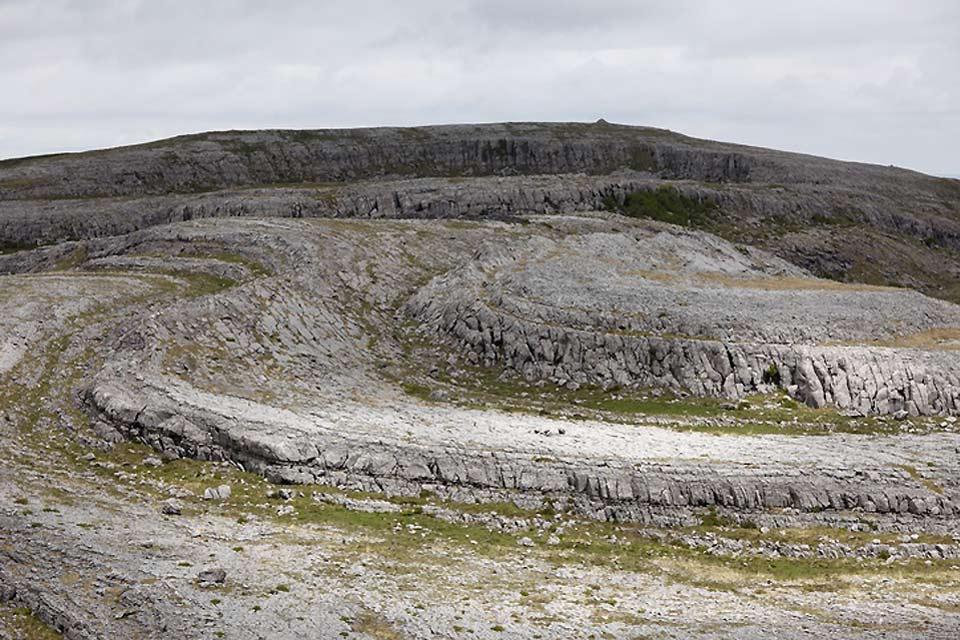 El desierto calcáreo de Burren , El Burren, Irlanda , Irlanda