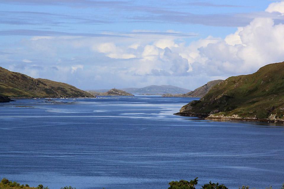 Die an der Westküste gelegenen Fjorde und Felsen , Killary Harbour, Irland , Irland