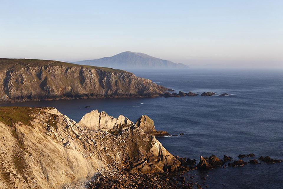 Die an der Westküste gelegenen Fjorde und Felsen , Steilfelsen am Atlantik, Irland , Irland
