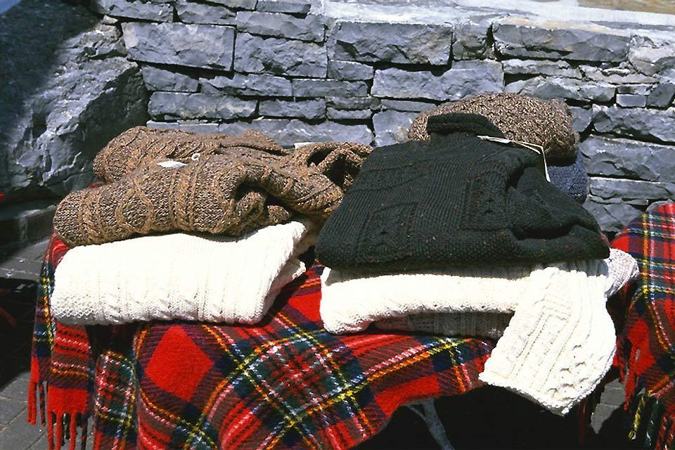 The archipelagos of the Atlantic coast. , Aran sweaters , Ireland