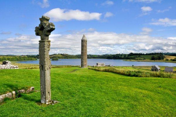 El lago Lough Erne , El lago Lough Eme en Irlanda del Norte , Reino Unido
