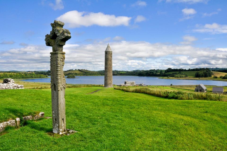 Le lac Lough Erne , Le lac Lough Erne en Irlande du Nord , Royaume-Uni