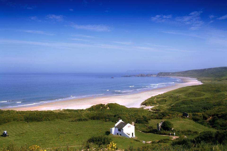 La côte d'Antrim , La côte d'Antrim en Irlande du Nord , Royaume-Uni