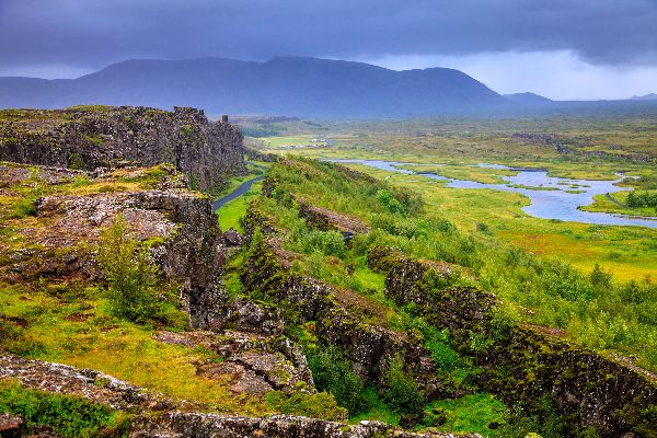 Der Nationalpark von Thingvellir , Der Thingvellir-Nationalpark , Island