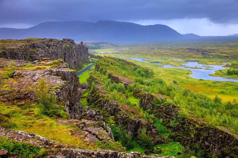 Le Parc national de Thingvellir , Islande