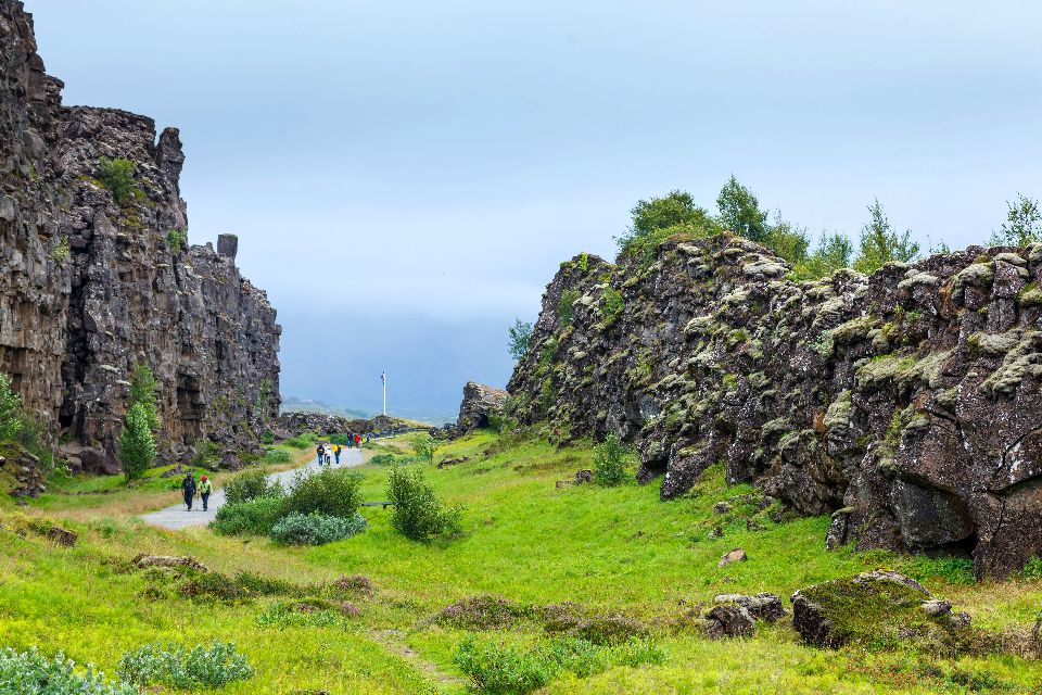 The national park of Thingvellir , Oxarárfoss waterfall, Iceland , Iceland