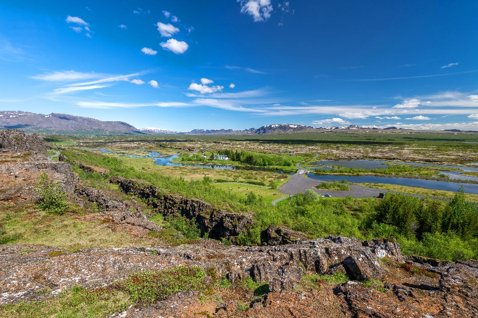 The national park of Thingvellir , The site of the former Icelandic parliament , Iceland