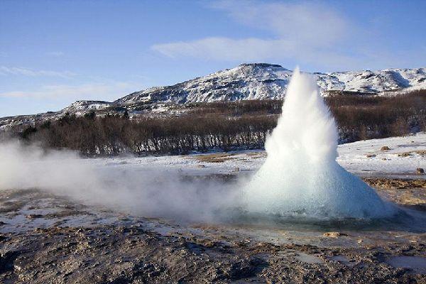 I Geyser di Geysir , Islanda