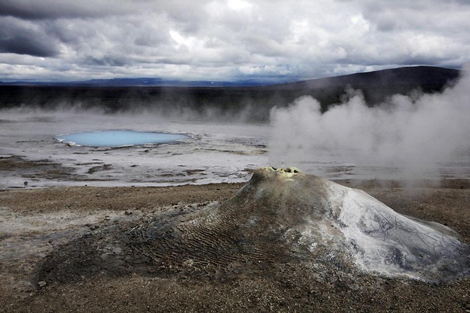 I Geyser di Geysir , Bacini di silicio , Islanda