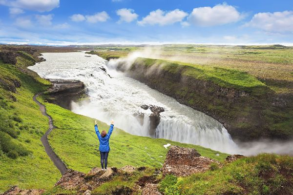 Les chutes d'eau de Gullfoss , Islande