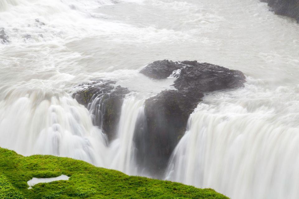 Der Gullfoss , Wasserfall , Island