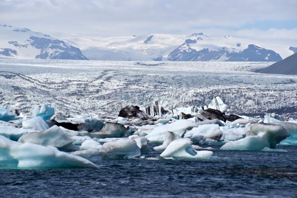 Les glaciers , Glacier Vatnajoekull , Islande