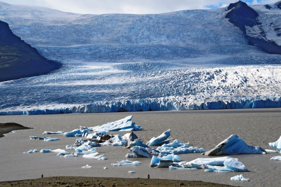 Les glaciers d'Islande , Le glacier Oraefajokull , Islande