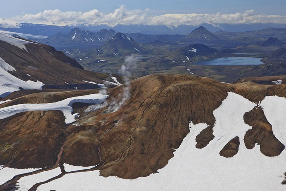Le volcan Hekla , Islande