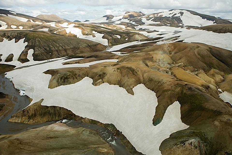 Le volcan Hekla , Chaîne volcanique en Islande , Islande