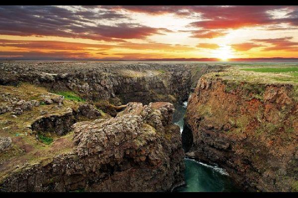 La réserve de Jokulsarglfur , Les gorges de Katlar , Islande