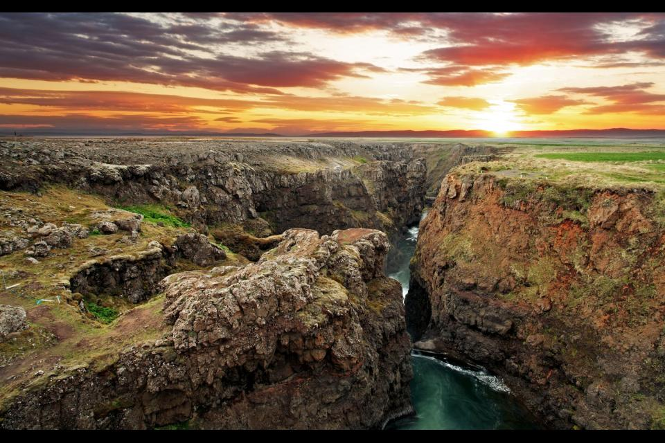La reserva de Jokulsarglfur , Las gargantas de Katla , Islandia
