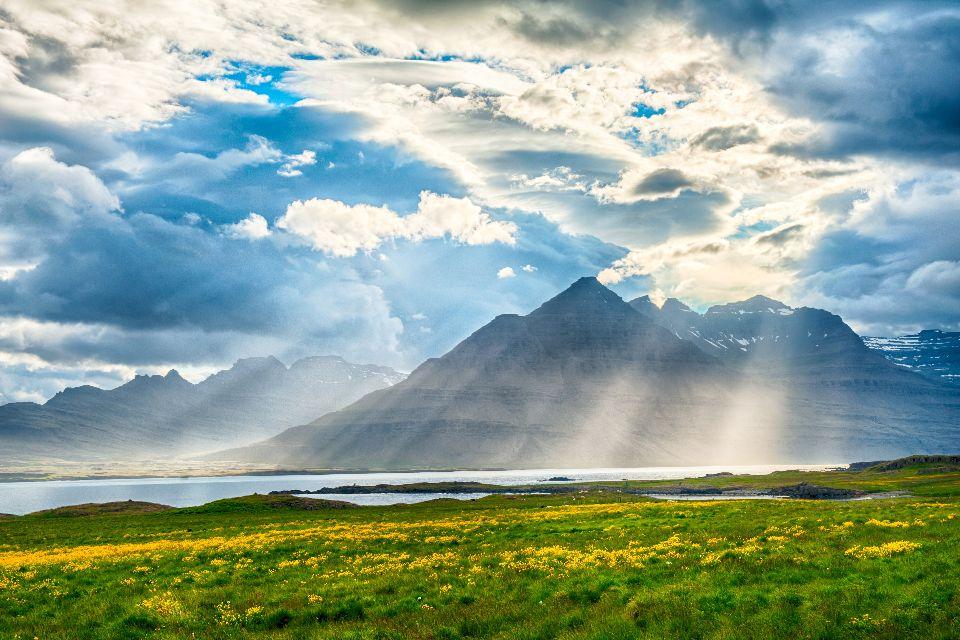 Los fiordos , Fiordos en el norte de Islandia , Islandia