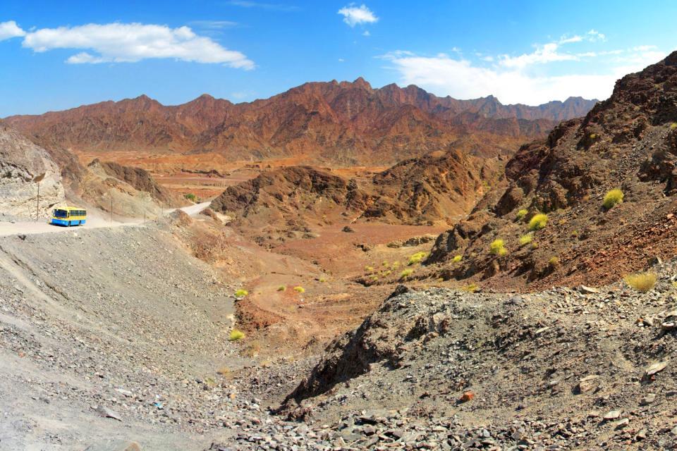 La catena montuosa dell'Asir , Arabia Saudita