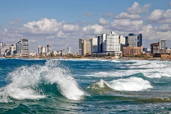 La costa mediterranea , Tel Aviv, Israele , Israele
