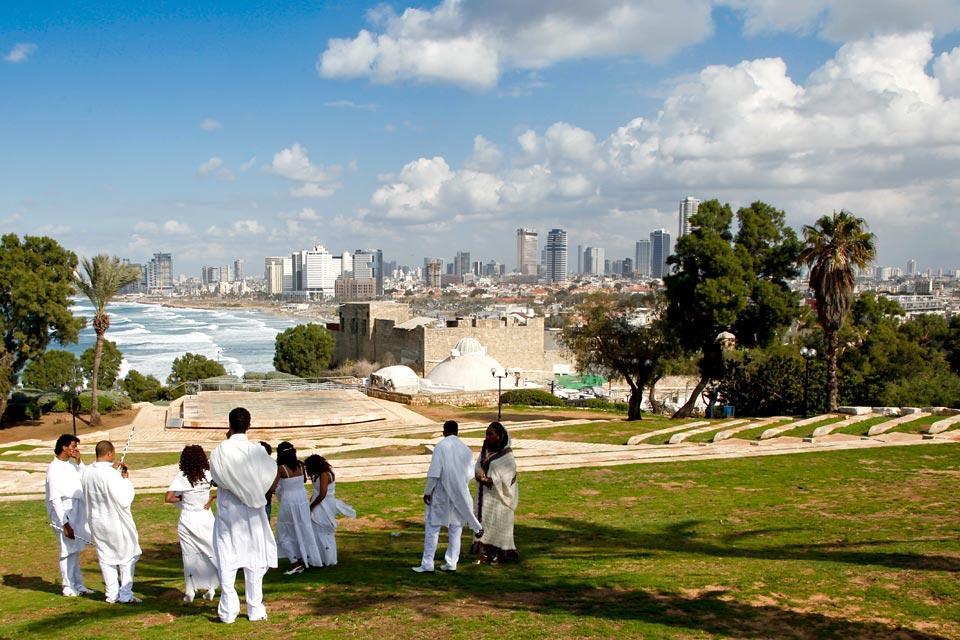 La côte méditerranéenne , Jaffa , Israël