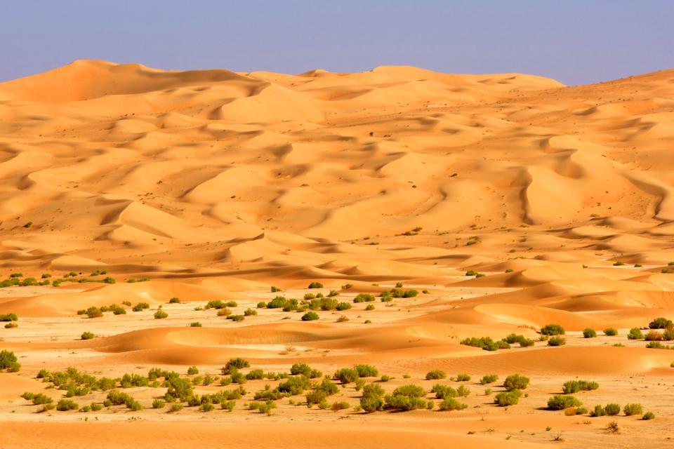 The Rub' al-Khali desert , Saudi Arabia