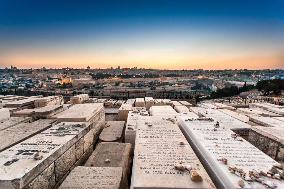 Le mont des Oliviers , Le Mont des Oliviers, Israël , Israël