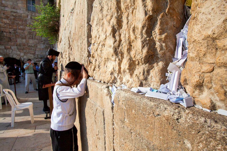 JERUSALEM-Le Mur des lamentations , le mur Hakotel , Israël