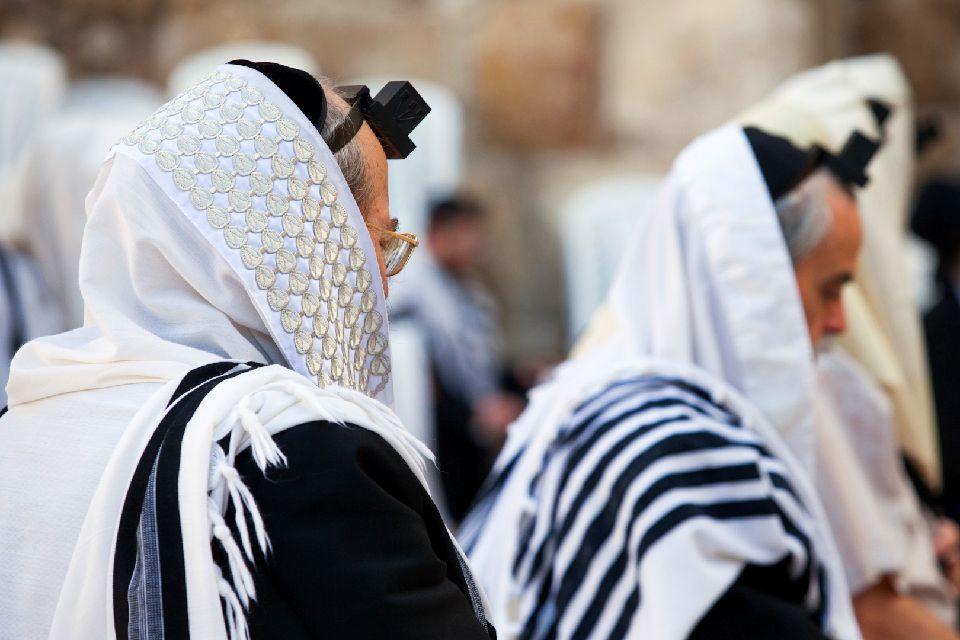 JERUSALEM-Le Mur des lamentations , Prière du matin au Mur des Lamentations , Israël