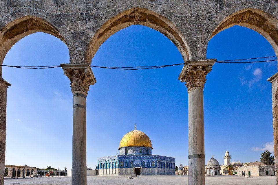 Haram el-Cherif o la Esplanada de las Mezquitas , La Explanada de las Mezquitas, Jerusalén, Isr , Israel