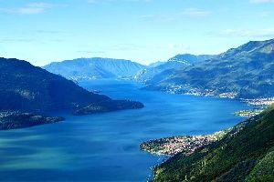 El lago de Como , El lago de Como, Lombardía , Italia