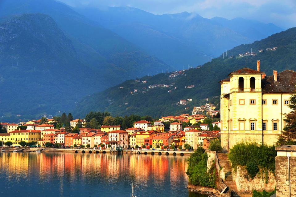El lago de Como , Varenna, en el Lago de Como , Italia