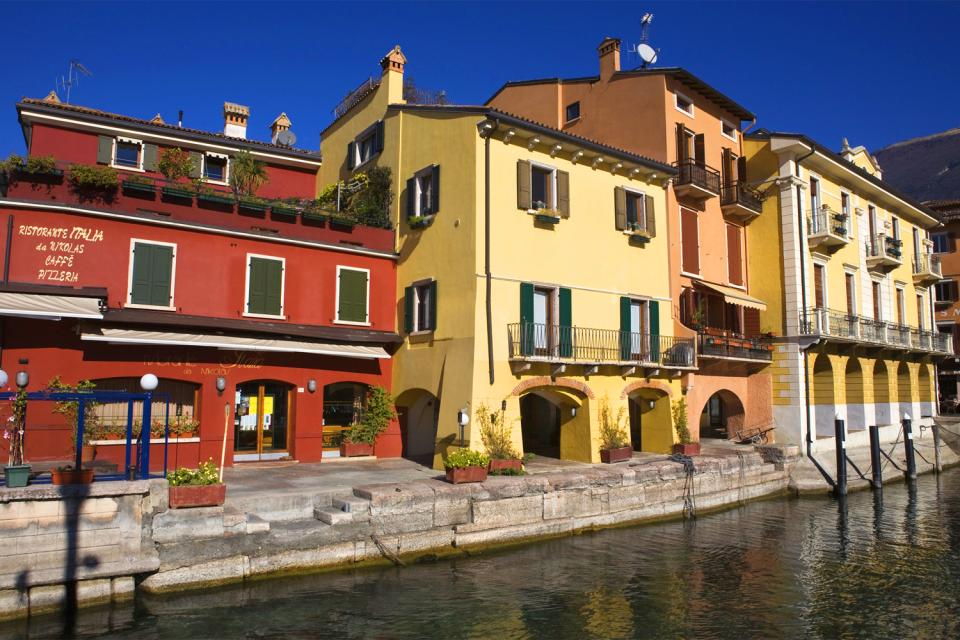 El lago de Garda , La ciudad , Italia
