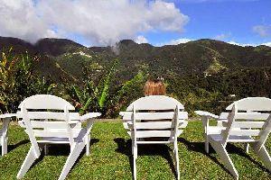 El pico de las Blues Mountains , La rica vegetación de las Blue Montains , Jamaica