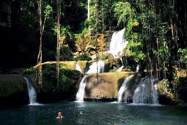 Rivers , Dunn's River Falls, Jamaica , Jamaica