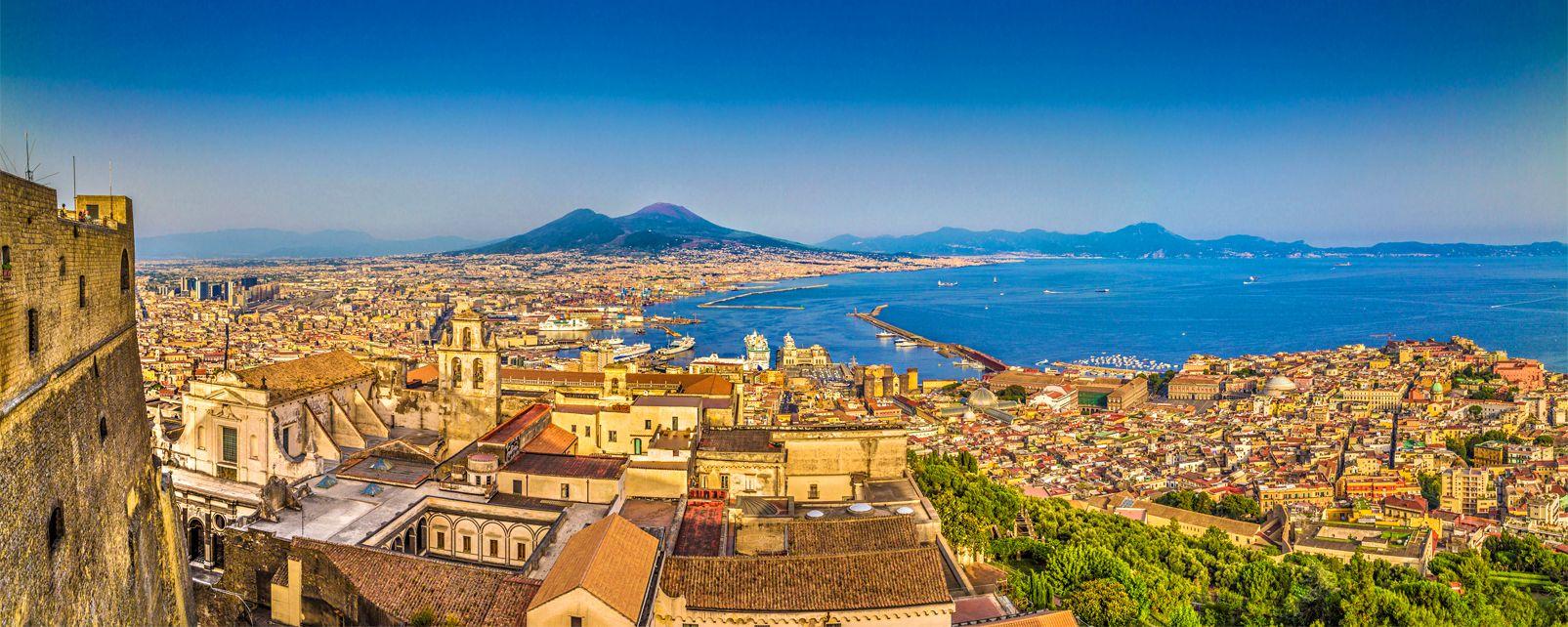 La bahía de Nápoles , La incomparable bahía de Nápoles , Italia