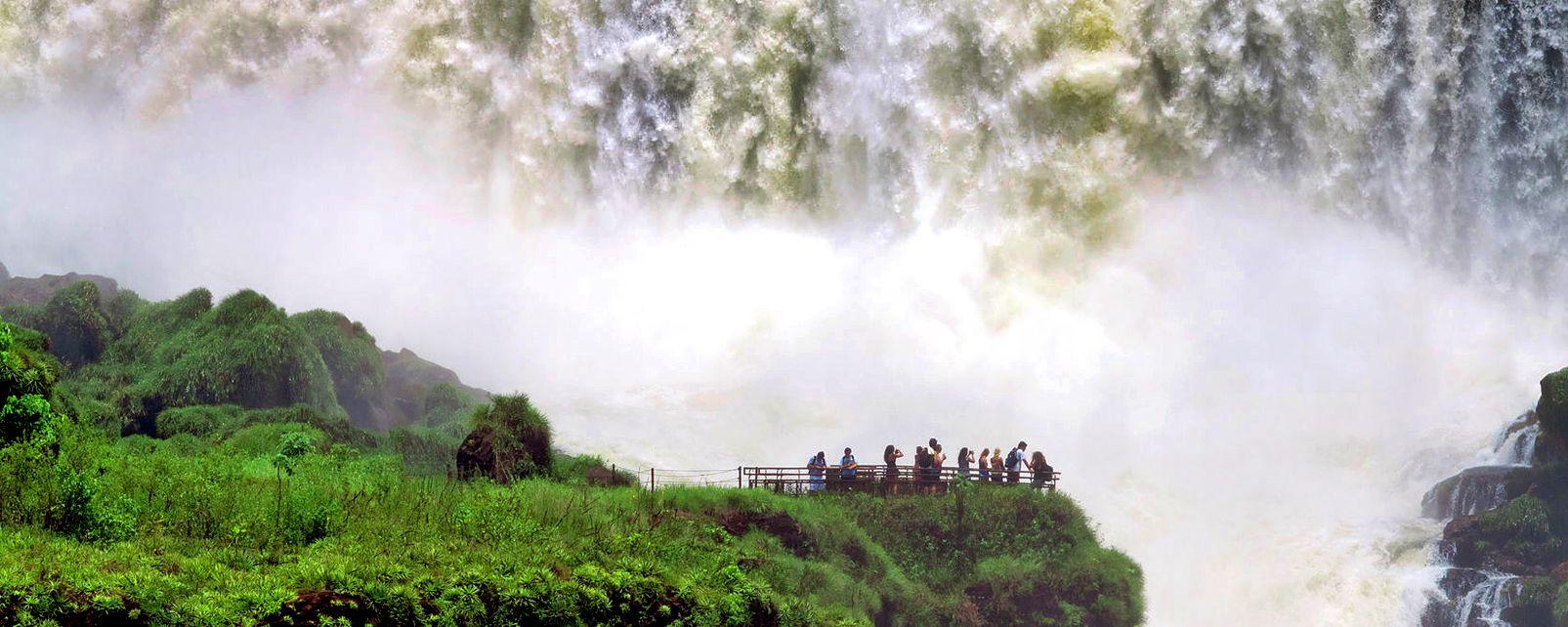 Las cataratas de Iguazú , Argentina