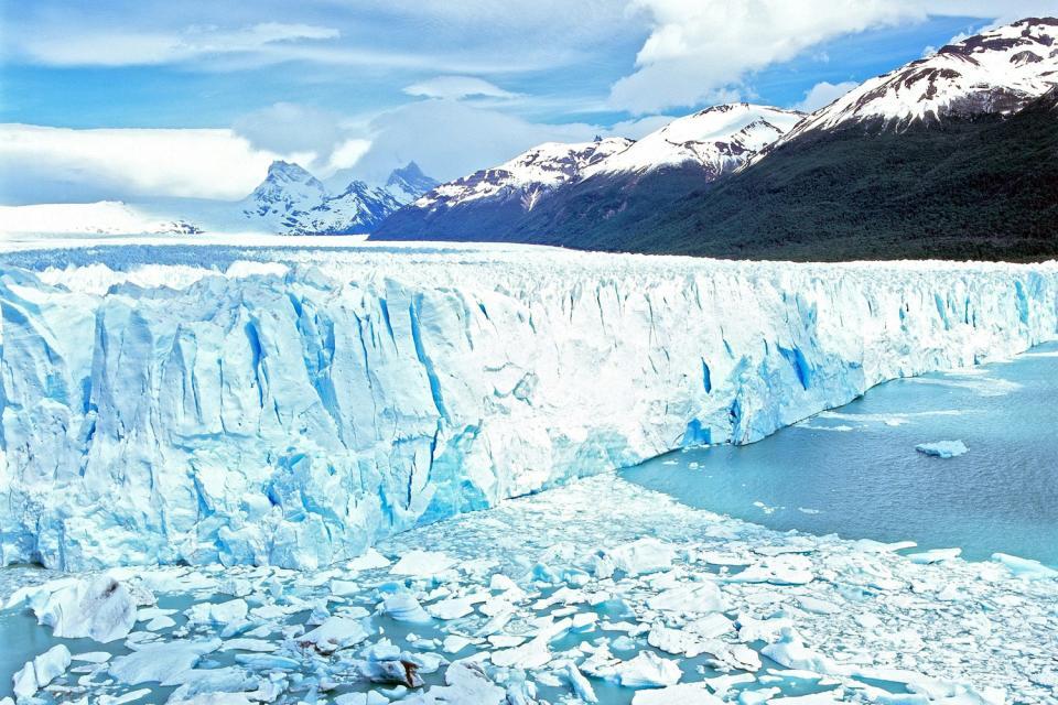 The Perito Moreno glacier , The Perito Moreno Glacier , Argentina