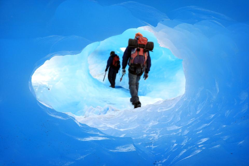 The Perito Moreno glacier , Melting ice , Argentina