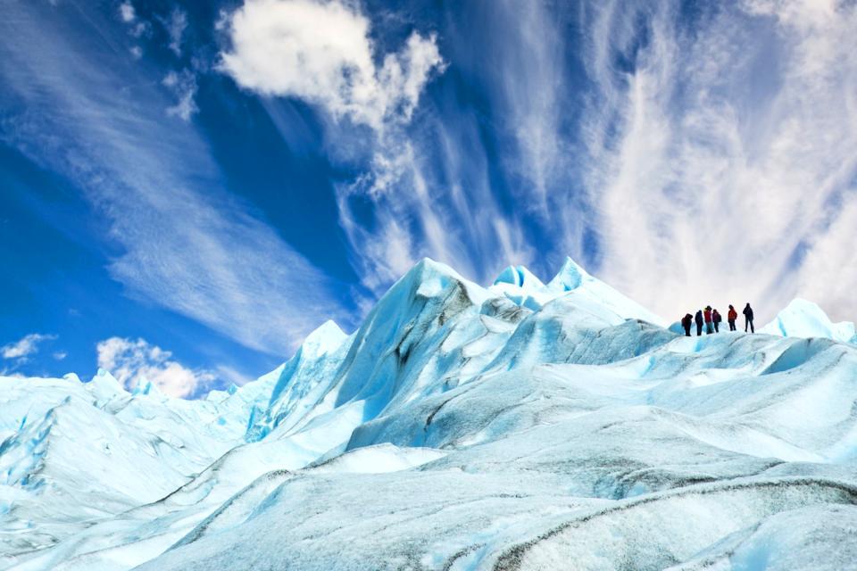 The Perito Moreno glacier , A tourist attraction , Argentina