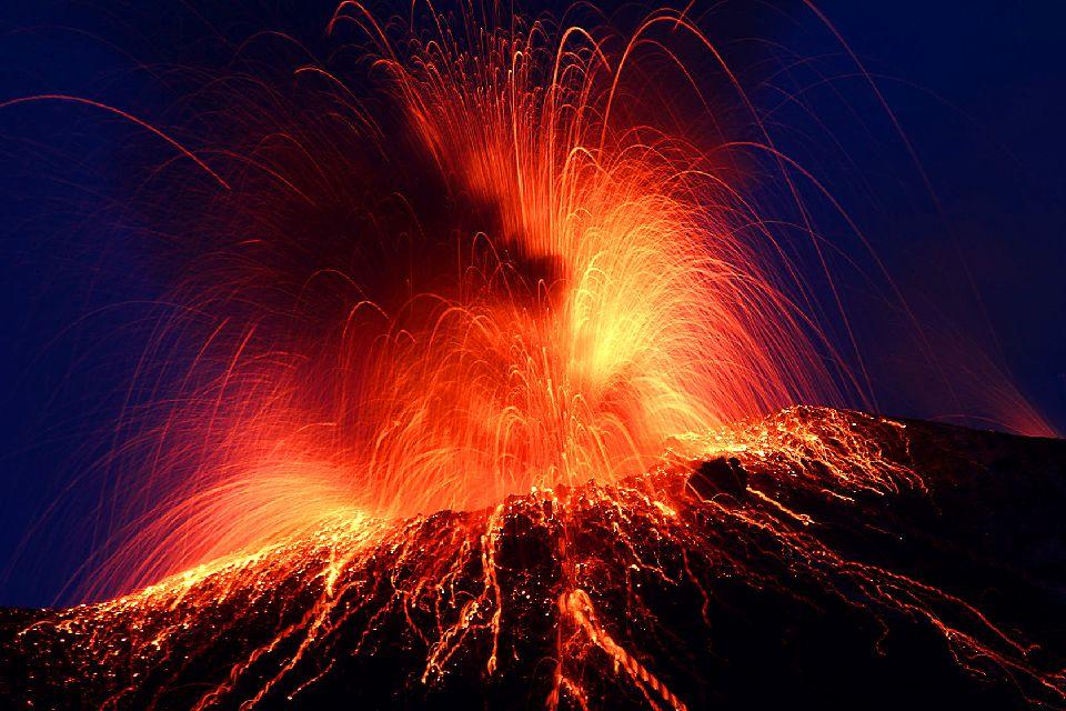 Stromboli , Der Vulkan Stromboli , Italien