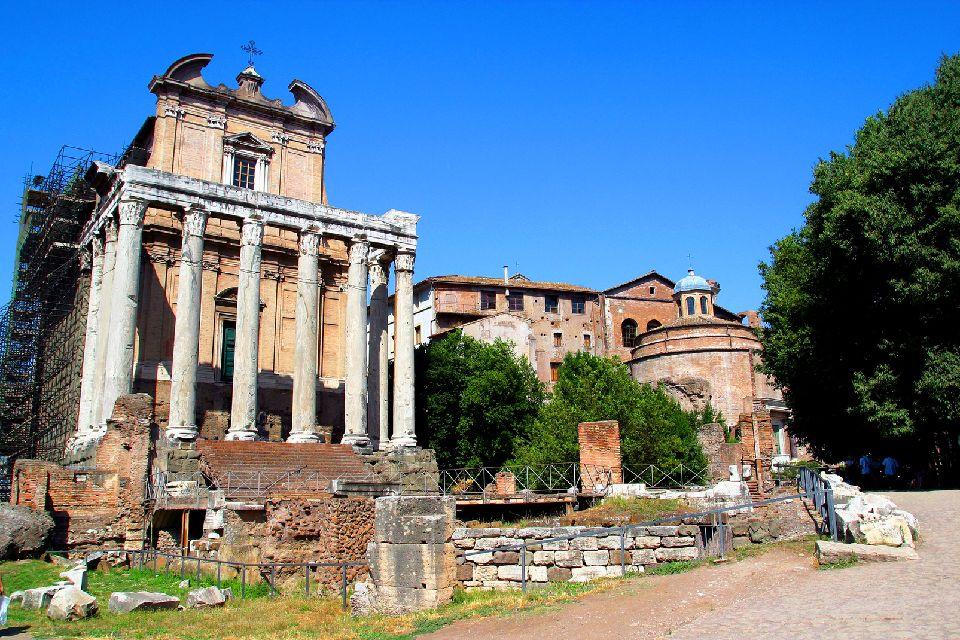 I fori romani , Roma , Il foro di Cesare , Italia
