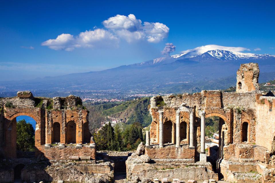 L'Etna , Le cratère de l'Etna , Italie