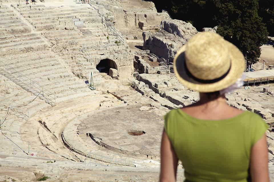La côte est , L'Amphithéâtre de Syracuse , Italie