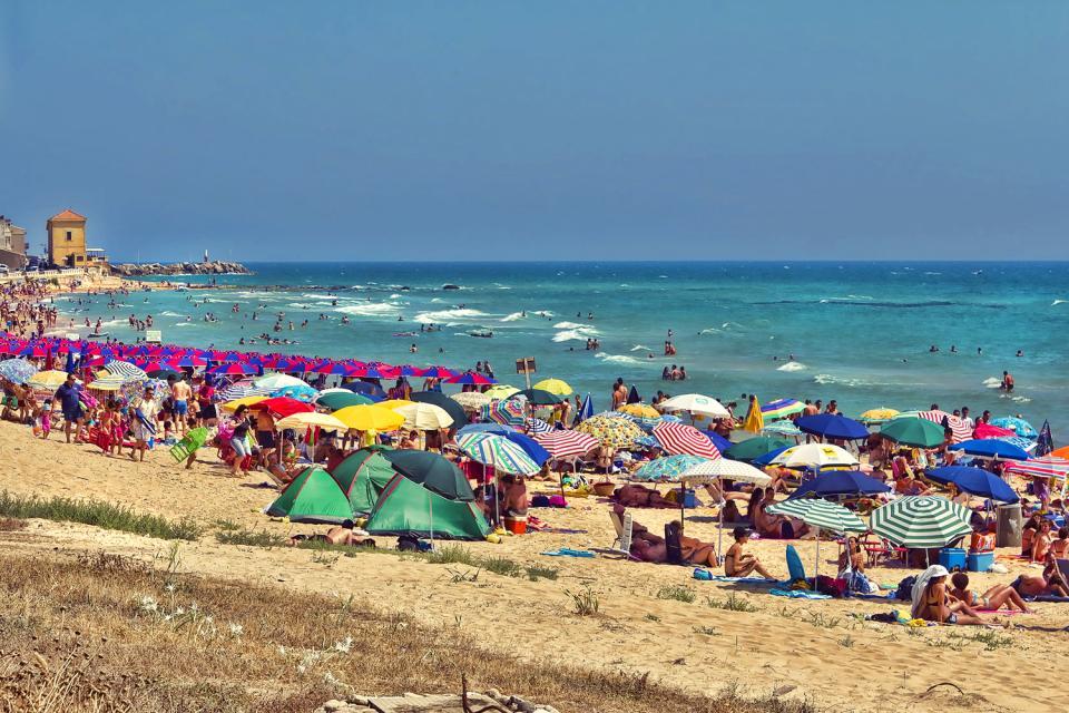 La costa meridionale , La costa meridionale, Sicilia , Italia