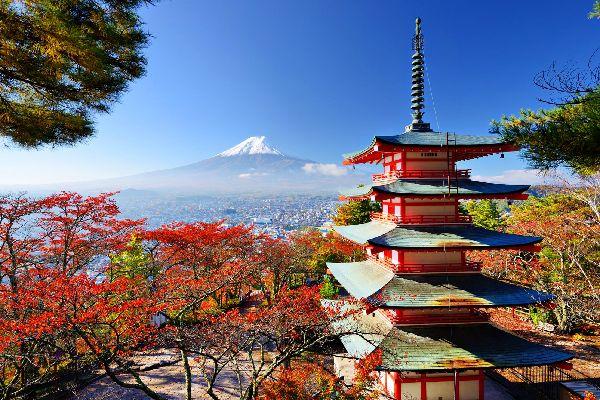 El monte Fuji , El monte Fuji, Japón , Japón