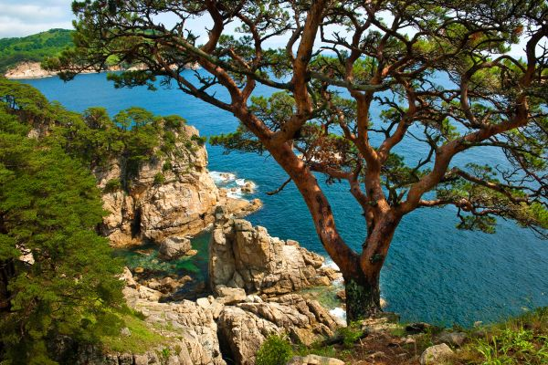 The Noto-Hanto peninsula , A view of the sea in Noto-Hanto , Japan