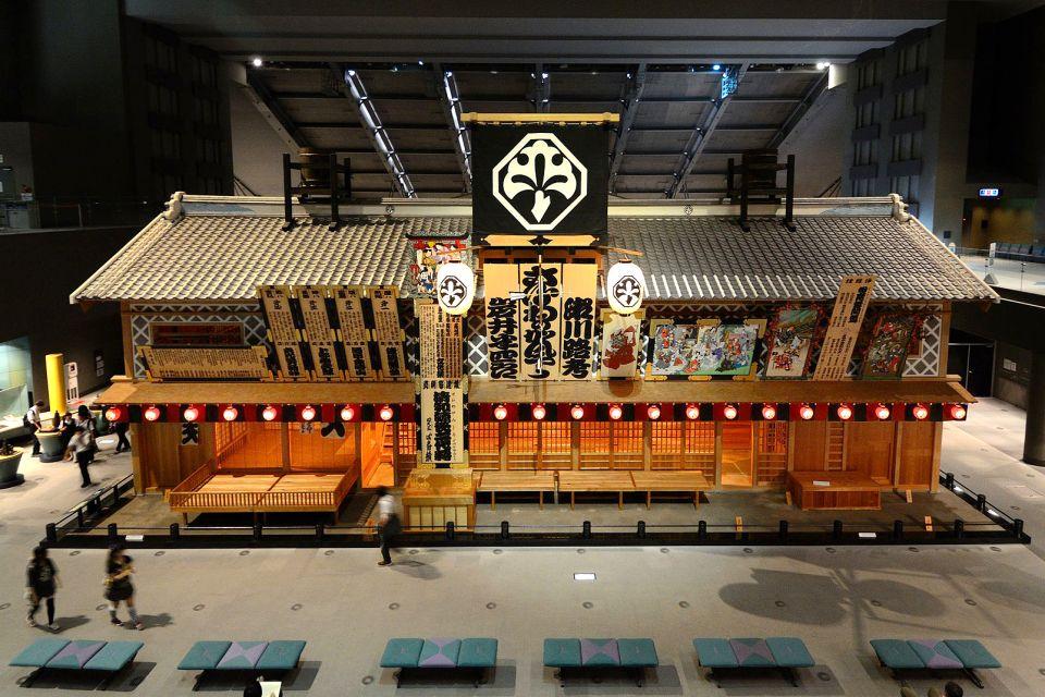 Le théâtre, la peinture et l'architecture , La réplique taille réelle du théâtre Nakamura , Japon