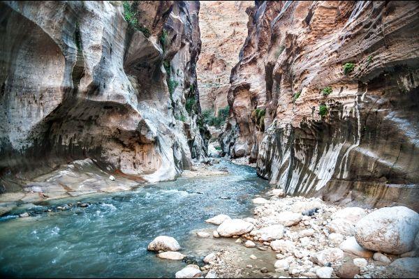 Les paysages, jordanie, moyen-orient, wadi hasa, rivi?re, canyon