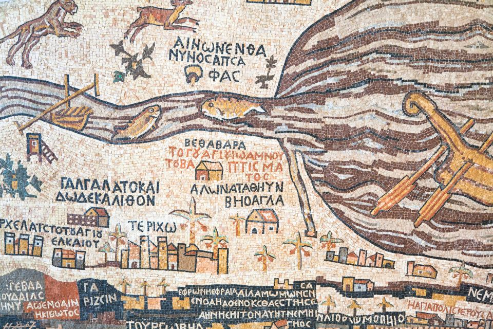 The Map of the Holy Land, Byzantine mosaics, Arts and culture, Jordan